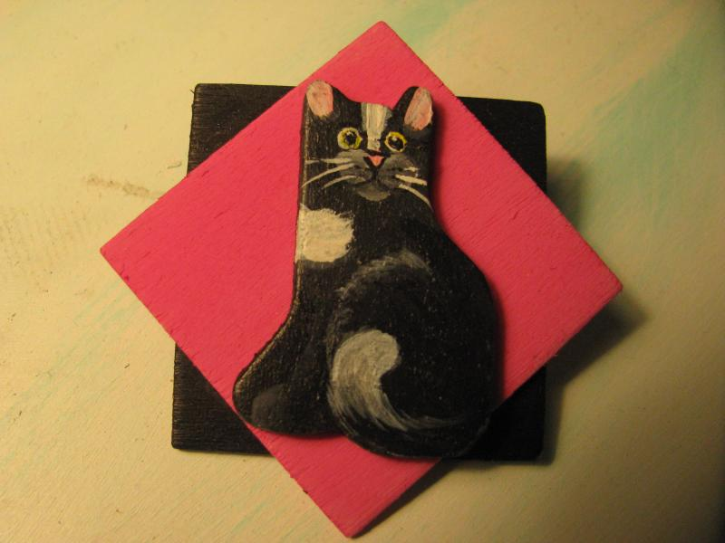 Adopt A Kitty squares pin