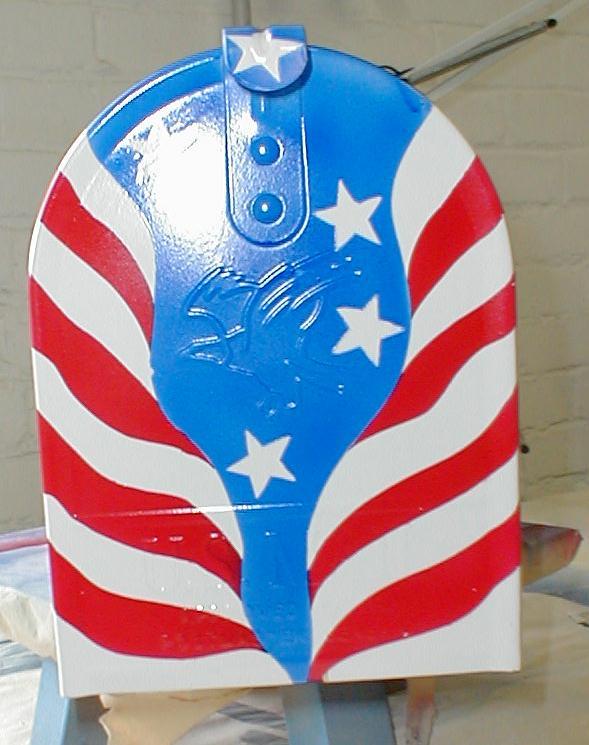 Patriotic mailbox front