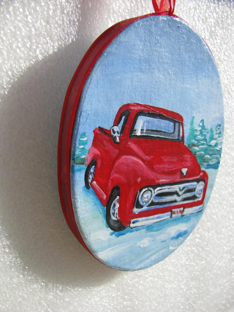 truck ornament side