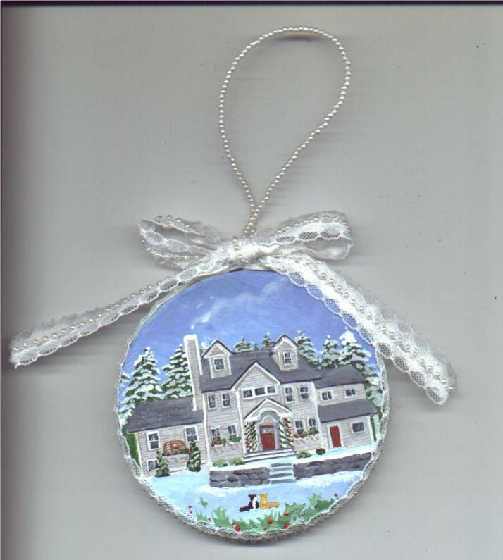 house portrait ornament