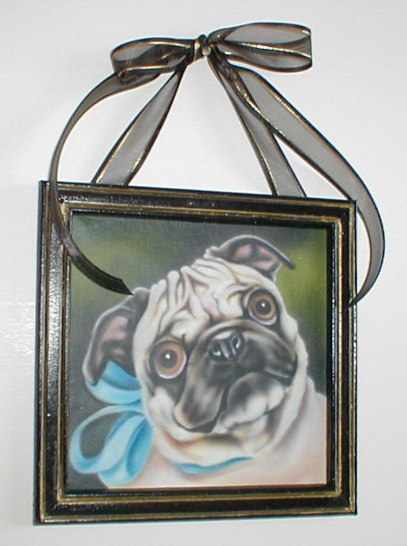 Mini Pug framed