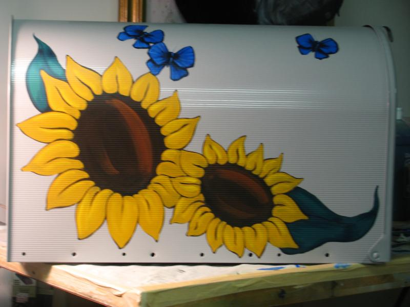 Sunflower mailbox